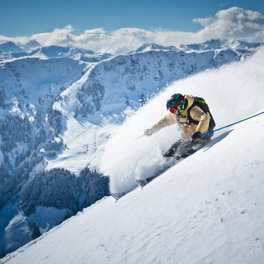 Freeride Action in Saalbach | © saalbach.com, Mirja Geh