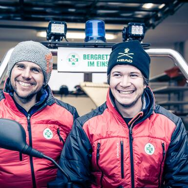 Markus and Fritz from the alpine rescue team of Saalbach Hinterglemm | © Edith Danzer