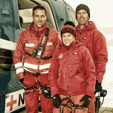 The crew (from left to right):  Toni Voithofer, Dr. Katharina Spora and pilot Shannon Harding | © Edith Danzer